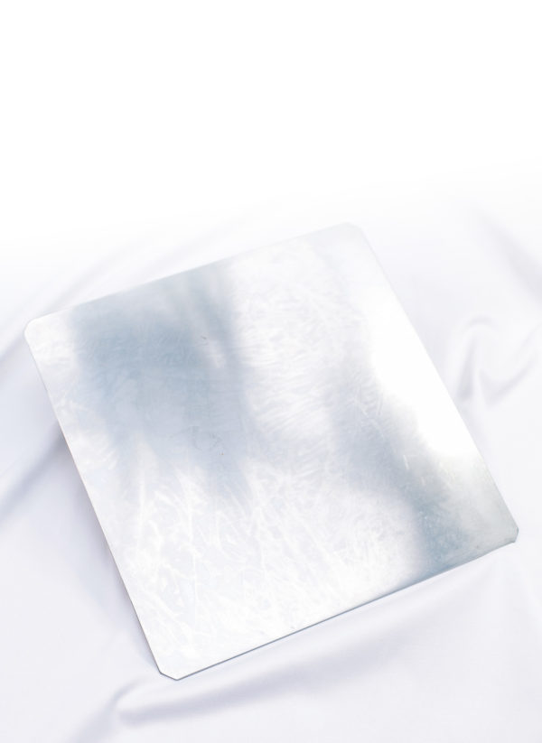 Metallplatte 33 x 33 x 0,3 cm