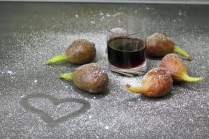 Portwein-Feigen-Herz