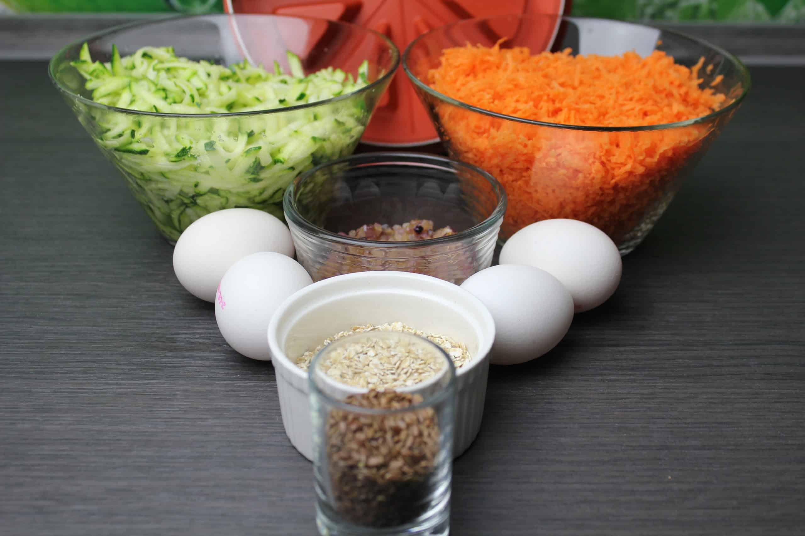 Karotten-Zucchini-Torte-Zutaten