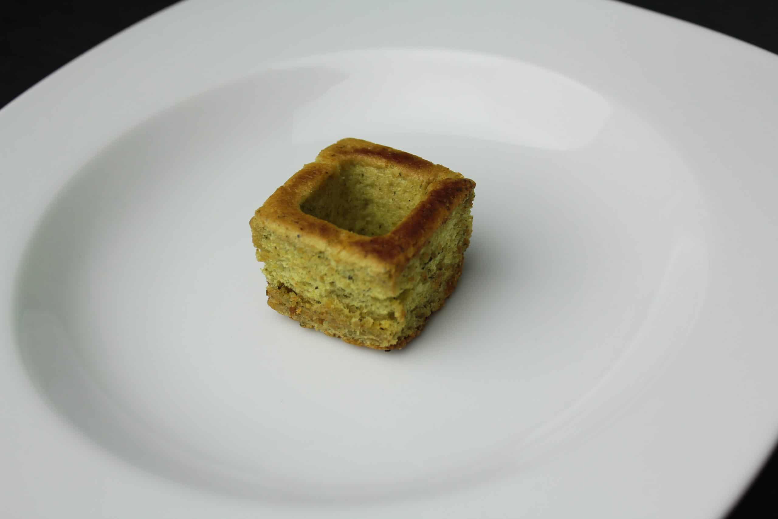 Crouton-auf-Teller